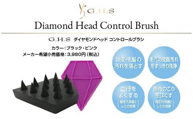 G.H.S ダイヤモンドヘッド コントロールブラシ
