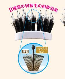 2種類のW植毛の相乗効果